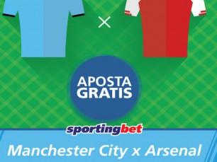Manchester City vs Arsenal - faz uma aposta antes do jogo começar e ganha uma aposta grátis