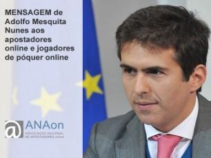 Mensagem de Adolfo Mesquita Nunes à ANAon