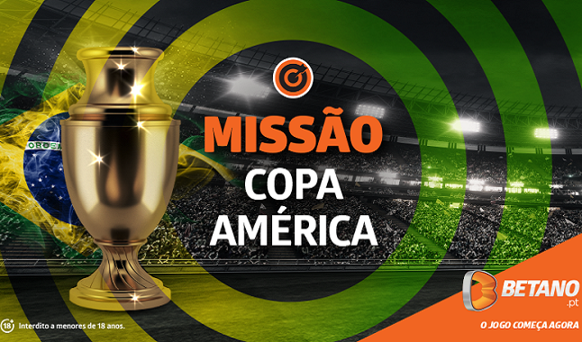Copa América LiveStream e ganha 10€ na Missão da Betano