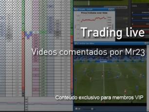 Trading Live em futebol - vídeos comentados de Mr23