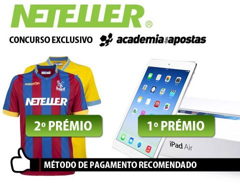 Ganha um iPad ou uma camisola oficial Crystal Palace com a Neteller