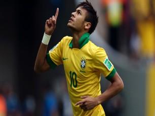 Neymar para marcar no Brasil vs Colômbia