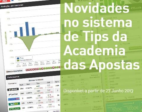 Novidades no sistema de Tips da Academia