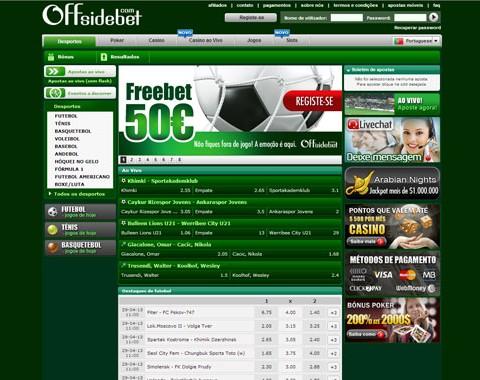 Offsidebet - Freebet até €50 (Como apostar na Offsidebet)
