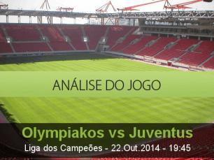 Análise do jogo: Olympiakos vs Juventus (22 Outubro 2014)
