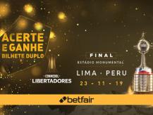 Acerte no resultado e ganhe bilhete duplo para a final Libertadores