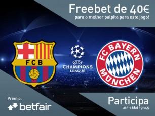 Passatempo: qual o resultado do jogo Barcelona vs Bayern Munique?
