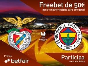 Passatempo: qual o resultado do jogo Benfica vs Fenerbahce?