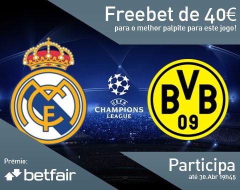 Passatempo: qual o resultado do jogo Real Madrid vs Borussia Dortmund?