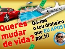 Paulo Rebelo ajuda-te a mudar de vida! Será que aceita o teu dinheiro para apostar por ti?
