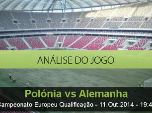 Análise do jogo: Polónia vs Alemanha (11 Outubro 2014)