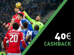 Ganha 40€ no Porto vs Benfica