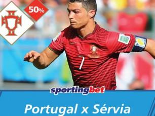 Portugal vs Sérvia: seleção das quinas vence e tu ganhas uma aposta grátis