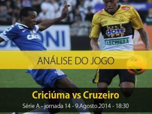 Análise do jogo: Criciúma X Cruzeiro (9 Agosto 2014)