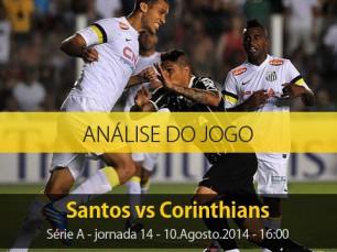 Análise do jogo: Santos X Corinthians (10 Agosto 2014)