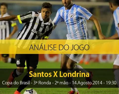 Análise do jogo: Santos vs Londrina (14 Agosto 2014)