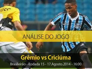 Análise do jogo: Grêmio X Criciúma (17 Agosto 2014)