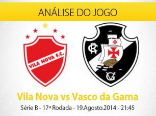 Análise do jogo: Vila Nova X Vasco (19 Agosto 2014)