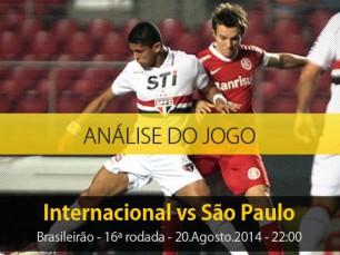 Análise do jogo: Internacional X São Paulo (20 Agosto 2014)