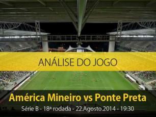 Análise do jogo: América Mineiro X Ponte Preta (22 Agosto 2014)