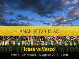 Análise do jogo: Icasa X Vasco (22 Agosto 2014)