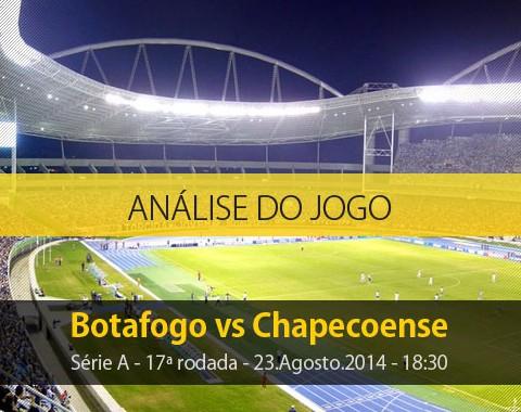 Análise do jogo: Botafogo X Chapecoense (23 Agosto 2014)