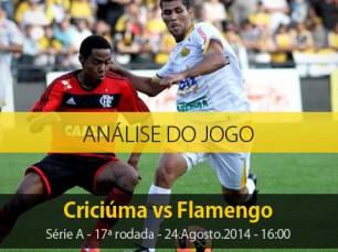 Análise do jogo: Criciúma X Flamengo (24 Agosto 2014)