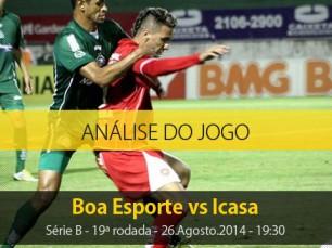 Análise do jogo: Boa Esporte X Icasa (26 Agosto 2014)
