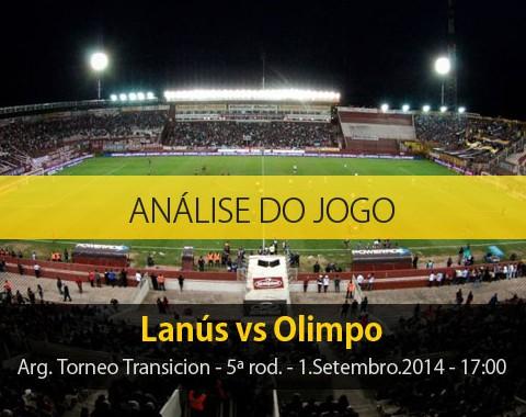 Análise do jogo: Lanús vs Olimpo (1 Setembro 2014)