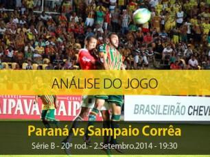 Análise do jogo: Paraná Clube vs Sampaio Corrêa (2 Setembro 2014)