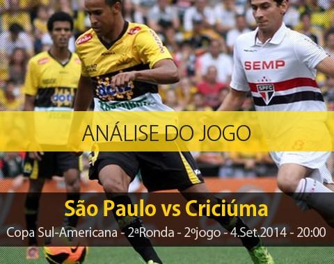 Análise do jogo: São Paulo X Criciúma (4 Setembro 2014)