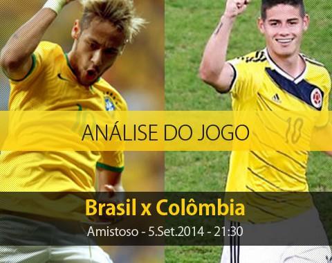 Análise do jogo: Brasil vs Colômbia (5 Setembro 2014)