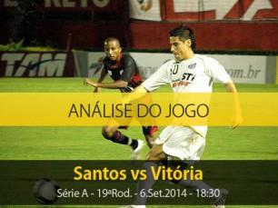 Análise do jogo: Santos X Vitória (6 Setembro 2014)