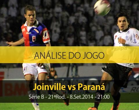 Análise do jogo: Joinville X Paraná (8 Setembro 2014)