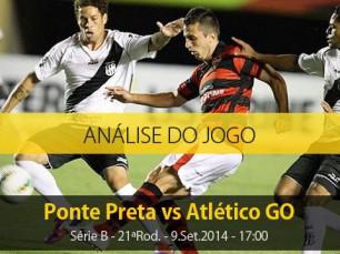 Análise do jogo: Ponte Preta X Atlético Goianiense (9 Setembro 2014)