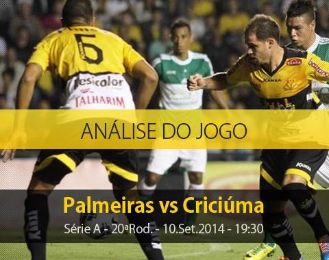 Análise do jogo: Palmeiras vs Criciúma (10 Setembro 2014)