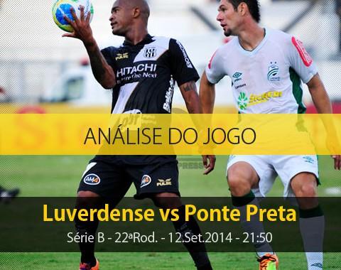 Análise do jogo: Luverdense vs Ponte Preta (12 Setembro 2014)