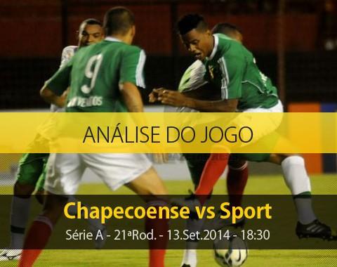 Análise do jogo: Chapecoense vs Sport (13 Setembro 2014)