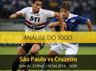 Análise do jogo: São Paulo vs Cruzeiro (14 Setembro 2014)