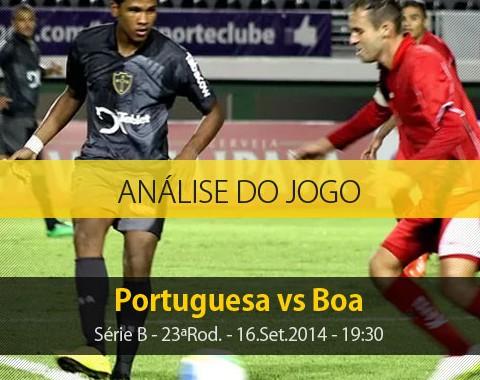 Análise do jogo: Portuguesa X Boa Esporte (16 Setembro 2014)