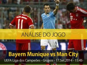 Análise do jogo: Bayern Munique vs Manchester City (17 Setembro 2014)