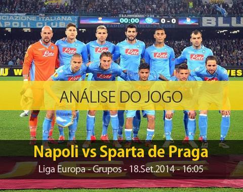 Análise do jogo: Napoli X Sparta de Praga (18 Setembro 2014)