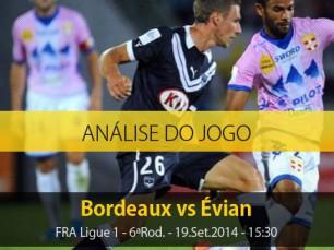 Análise do jogo: Bordeaux vs Évian (19 Setembro 2014)