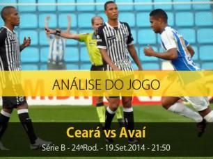 Análise do jogo: Ceará x Avaí (19 Setembro 2014)