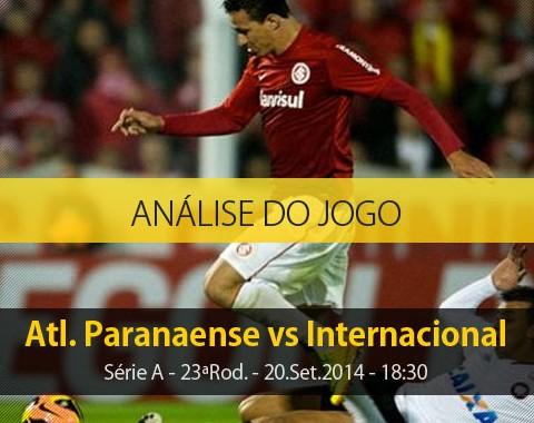 Análise do jogo: Atlético Paranaense vs Internacional (20 Setembro 2014)