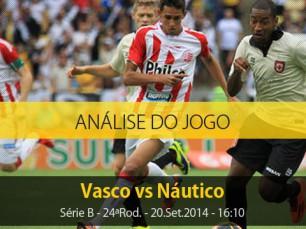 Análise do jogo: Vasco vs Náutico (20 Setembro 2014)