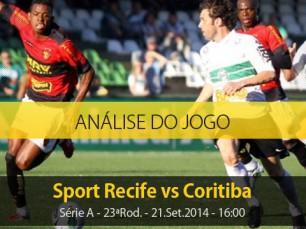 Análise do jogo: Sport Recife X Coritiba (21 Setembro 2014)