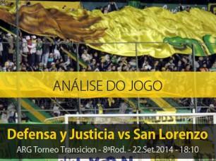 Análise do jogo: Defensa y Justicia X San Lorenzo (22 Setembro 2014)