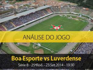 Análise do jogo: Boa Esporte vs Luverdense (23 Setembro 2014)