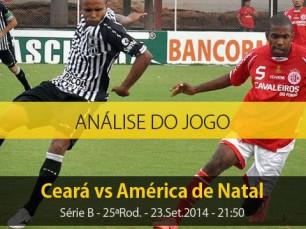Análise do jogo: Ceará vs América de Natal (23 Setembro 2014)